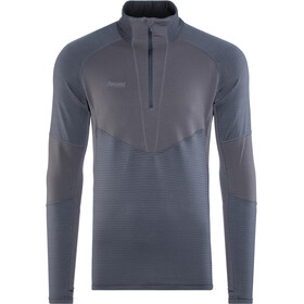 Bergans Roni Sweat-shirt en polaire avec demi-zip Homme, navy/night blue